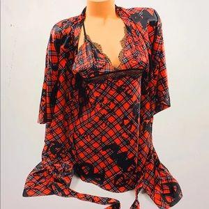 Victoria's Secret FASHION SHOW kimono set xs/s